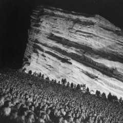 Crowds await the spectacle at Red Rocks