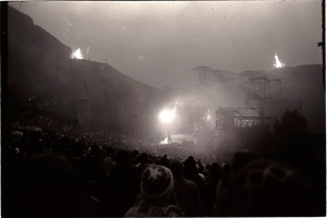 A smoke-filled concert at Red Rocks Amphitheater