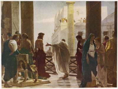 Pilate offers Jesus to the crowd but they prefer Barabbas