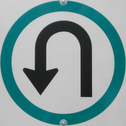 When are u-turns legal and illegal in California?