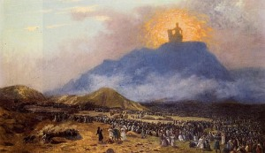 Moses on Mt. Sinai
