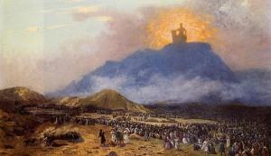Moses on Mt. Sinai