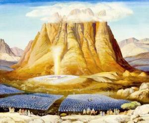 Israel encamped at Mt. Sinai