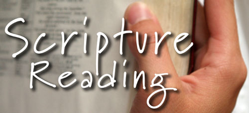 how to close a scripture reading