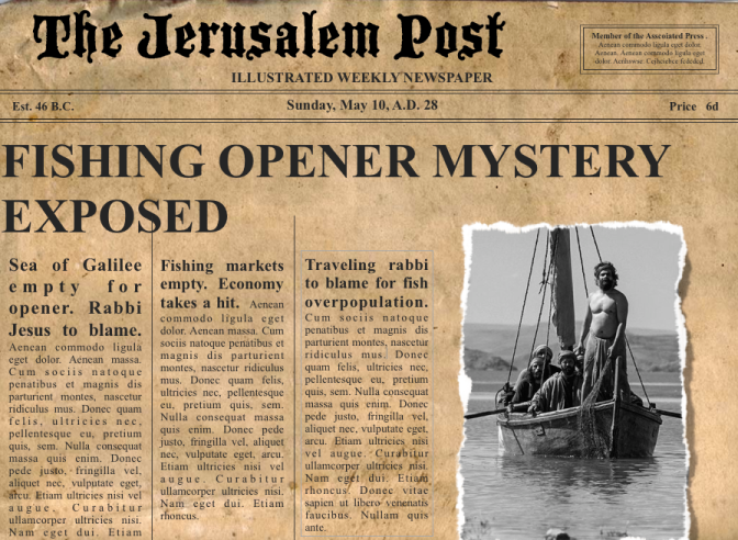 Fishing Opener Mystery on the Sea of Galilee