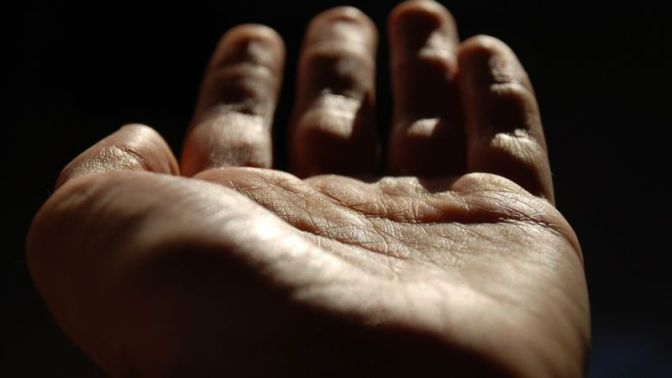The Palms of His Hands